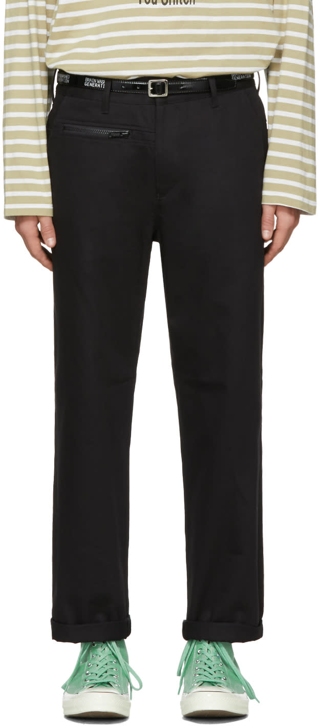 Image of Undercover Black Cotton Trousers