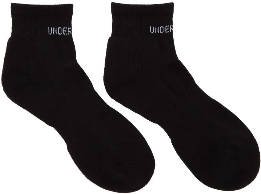 Image of Undercover Black Short Logo Socks