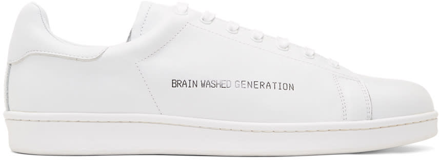 Undercover White brain Washed Generation Sneakers