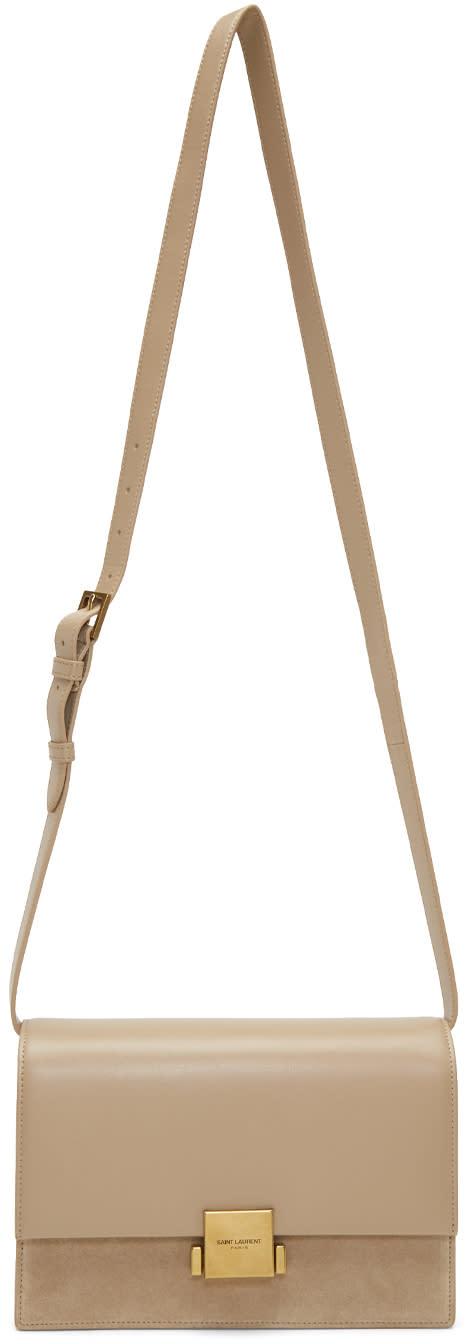 Image of Saint Laurent Beige Medium Bellechasse Bag