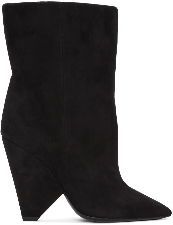 Saint Laurent Black Suede Niki Boots