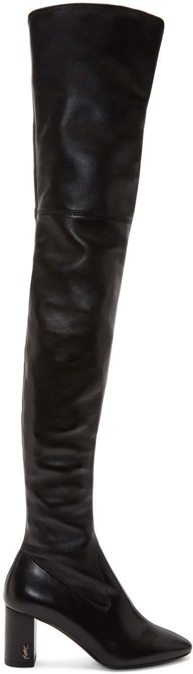 Saint Laurent Black Loulou Over-the-knee Boots