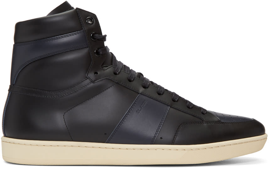 Saint Laurent Black Court Classic Sl-10h High-top Sneakers