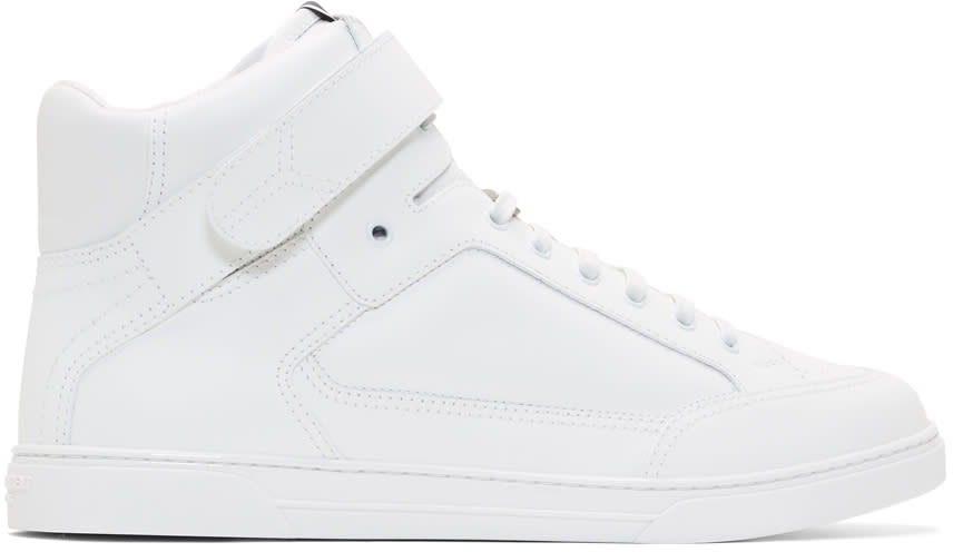 Saint Laurent White Joe Scratch High-top Sneakers