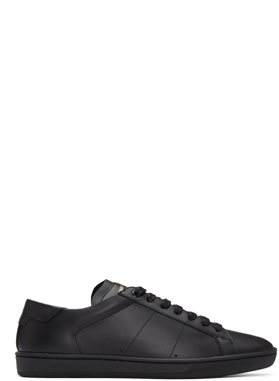 Saint Laurent Black Sl-01 Court Classic Sneakers