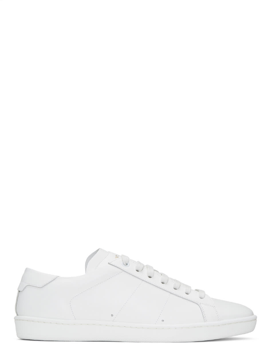 Saint Laurent White Sl-01 Court Classic Sneakers