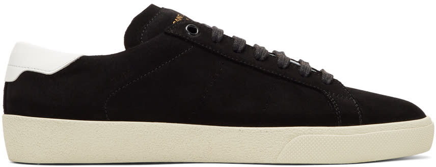 Saint Laurent Black Suede Sl-06 Court Classic Sneakers