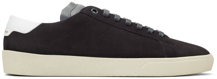 Saint Laurent Grey Suede Court Classic Sl-06 Sneakers