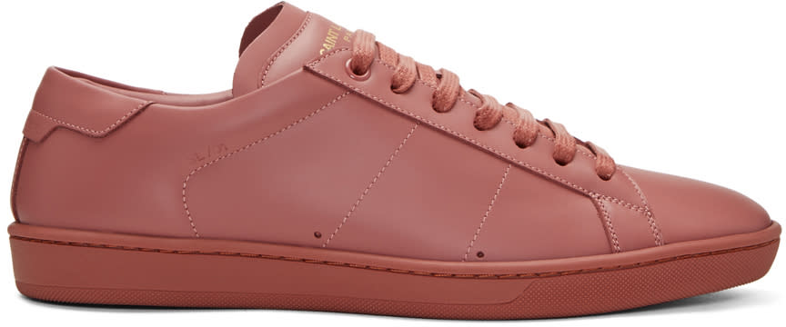 Saint Laurent Pink Sl-01 Court Classic Sneakers