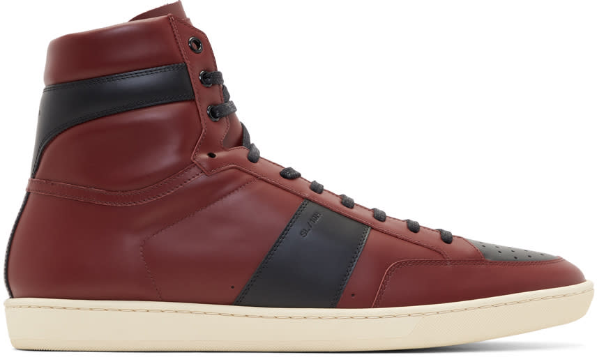 Saint Laurent Burgundy Court Classic Sl-10h High-top Sneakers