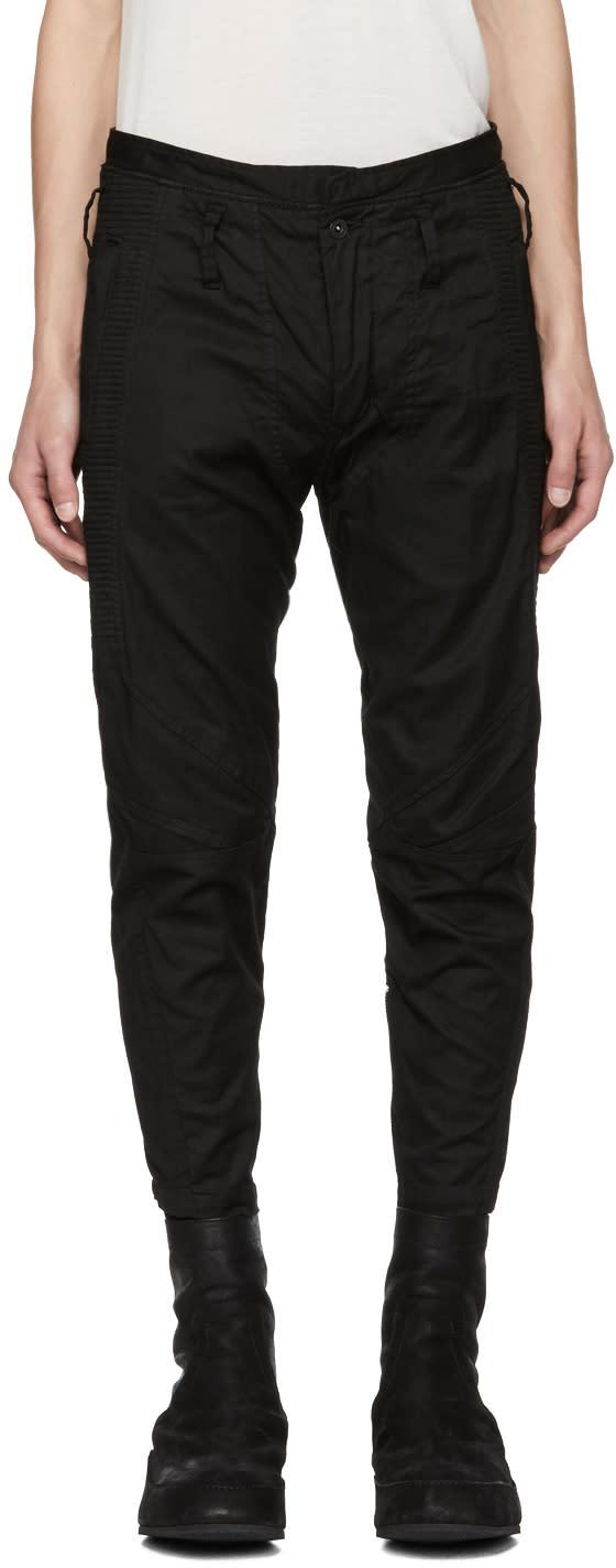 Julius Pantalon Côtelé Noir