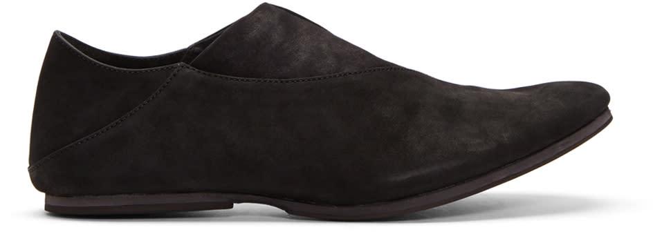 Julius Black Nubuck Loafers