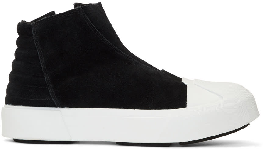 Julius Black Suede High-top Sneakers