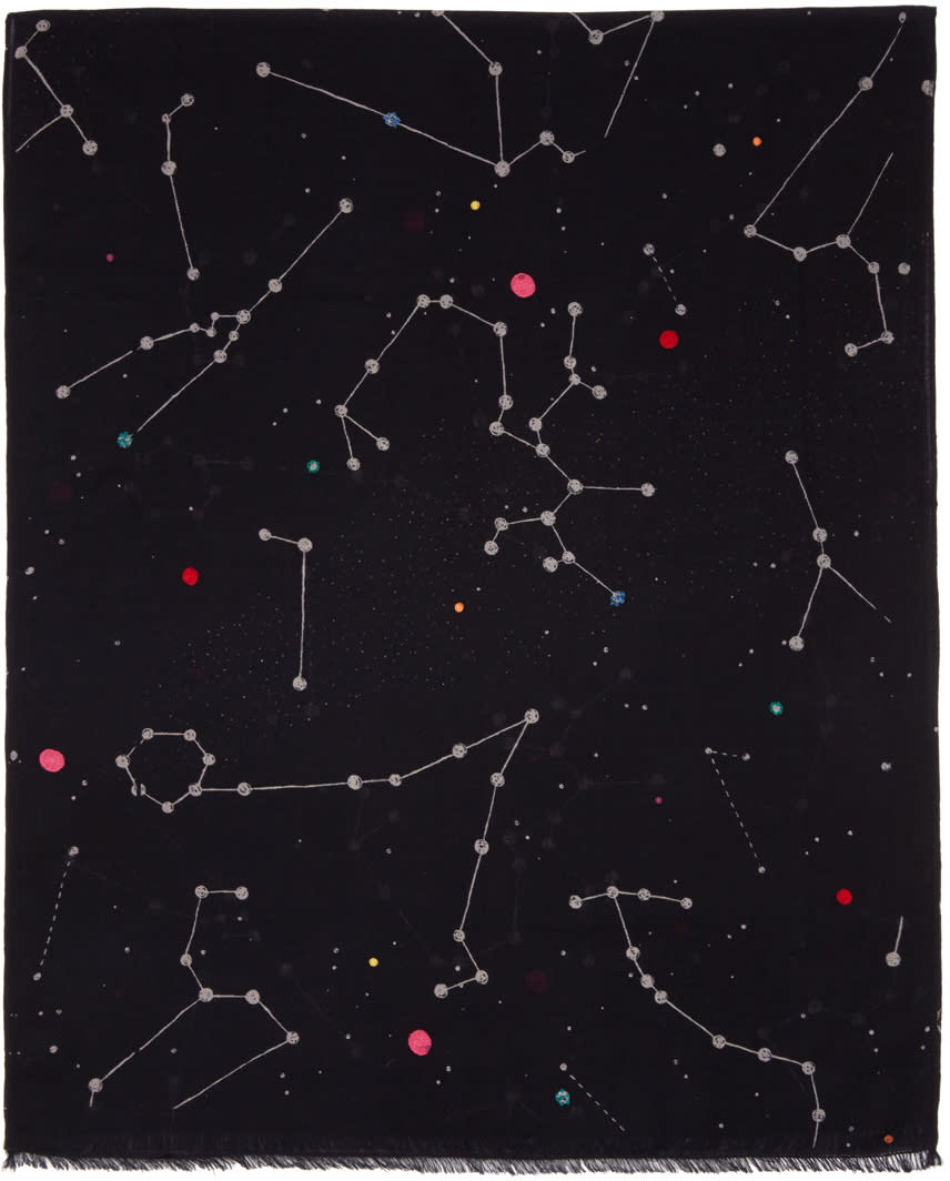 Ps By Paul Smith Black Milky Way Scarf