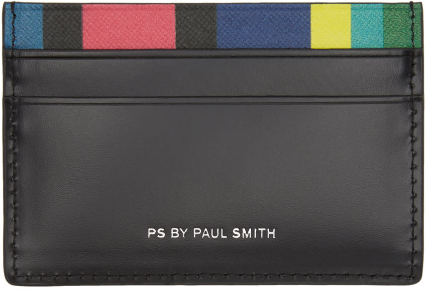 Ps By Paul Smith Black Stripe Card Holder