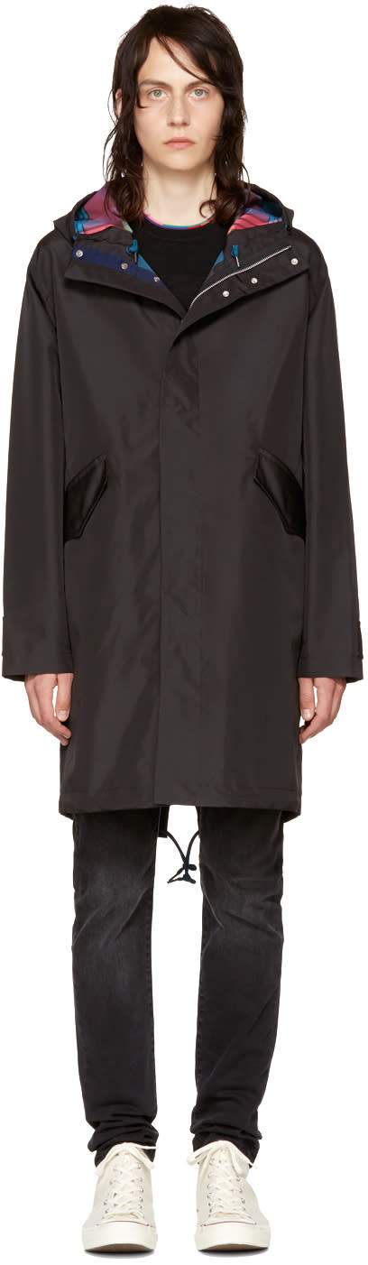 Ps By Paul Smith Black Hooded Parka