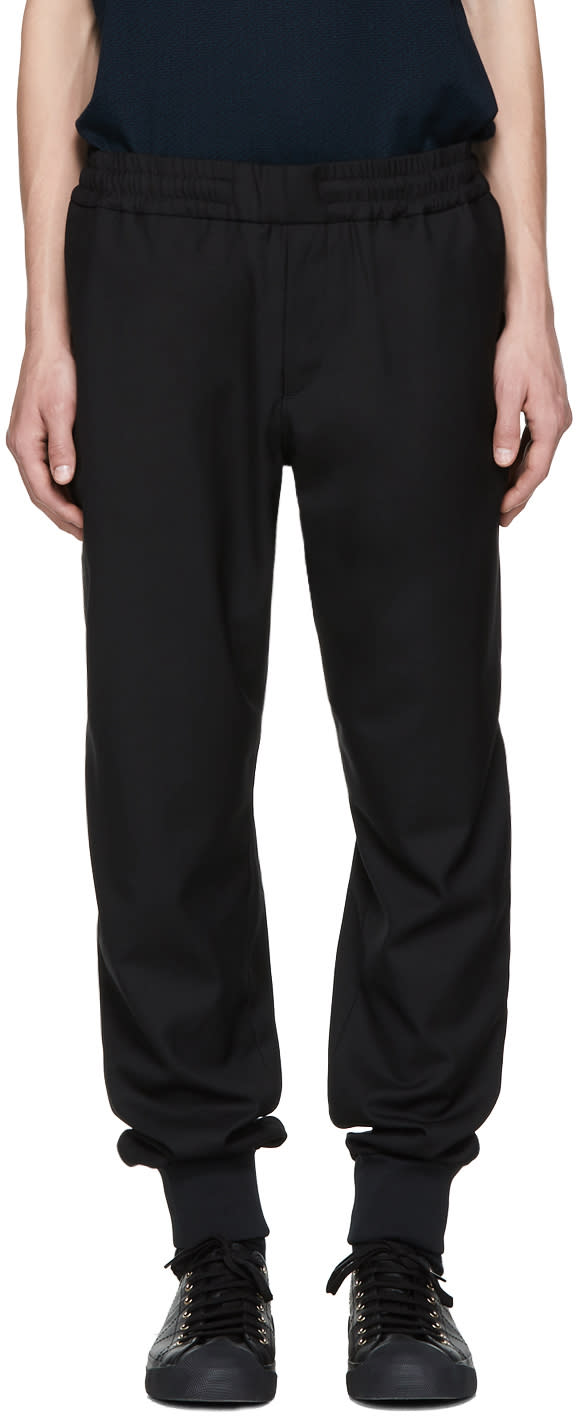 Image of Ps By Paul Smith Black Drawcord Trousers