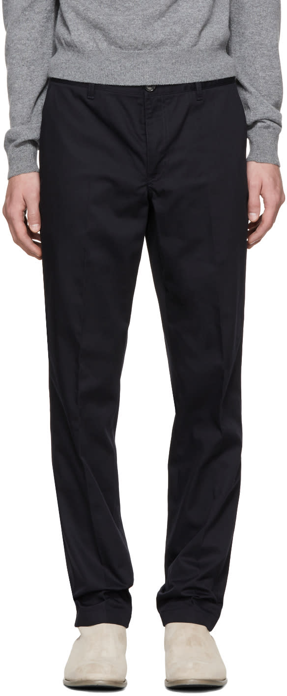 Ps By Paul Smith Navy Slim Chinos