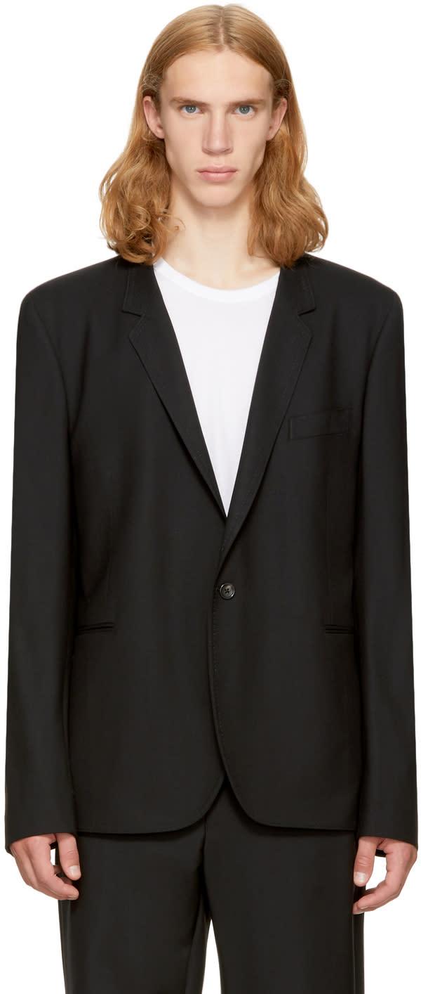 Ps By Paul Smith Black Wool Basic Blazer