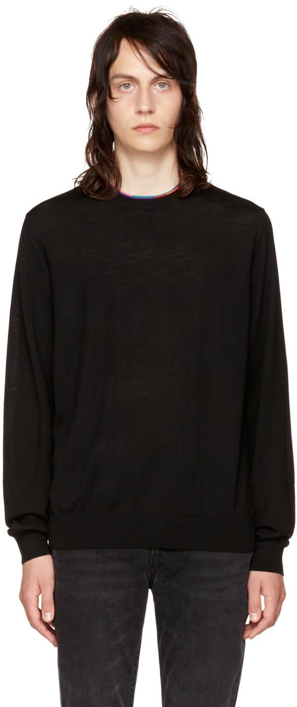Ps By Paul Smith Black Multistripe Sweater