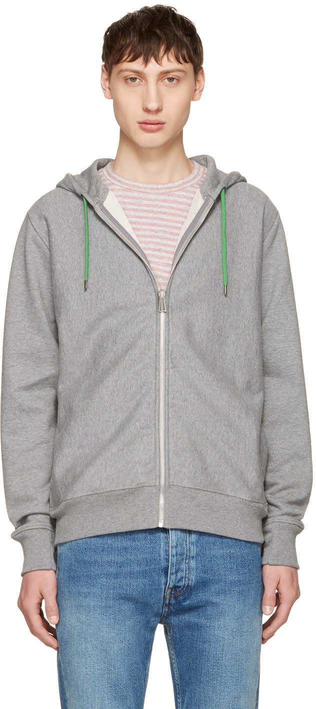 Ps By Paul Smith Grey No Zebra Zip Hoodie