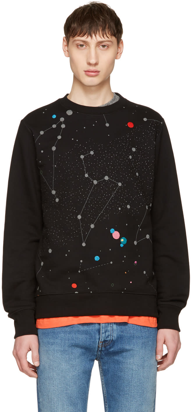 Ps By Paul Smith Black Milky Way Sweatshirt