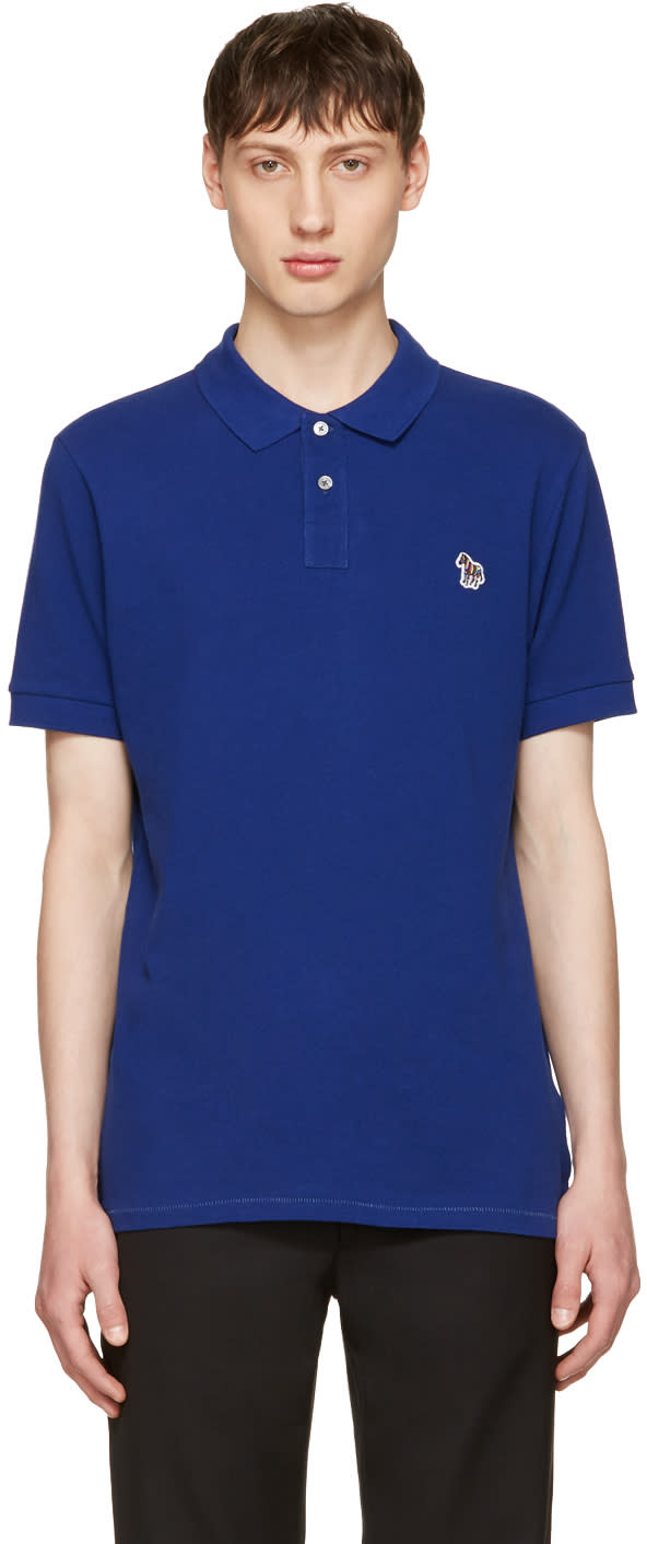 Ps By Paul Smith Indigo Zebra Polo