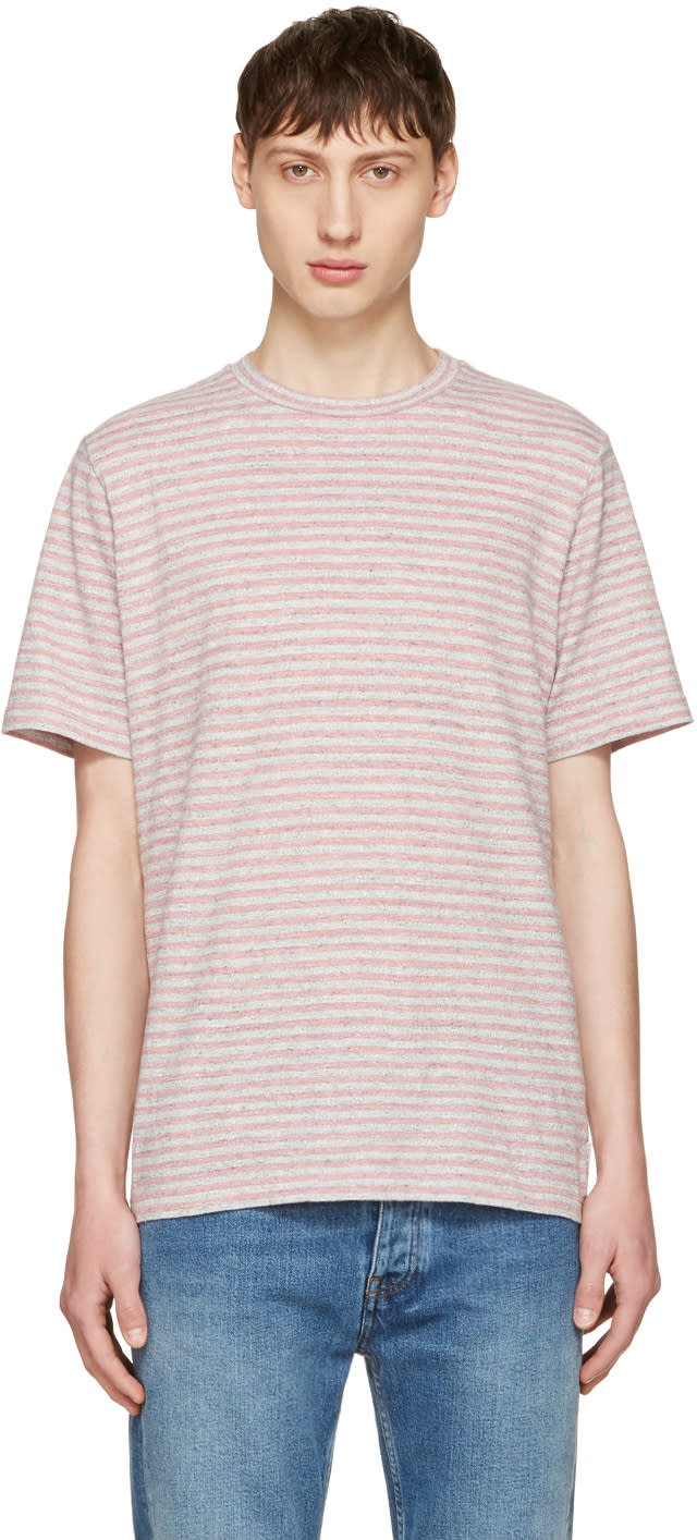 Ps By Paul Smith Pink Small Stripe T-shirt