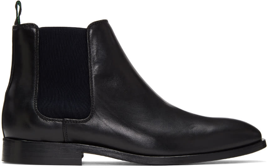 Image of Ps By Paul Smith Black Falconer Chelsea Boots