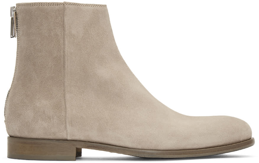 Image of Ps By Paul Smith Beige Suede Jean Boots
