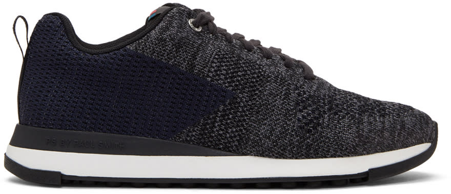 Image of Ps By Paul Smith Black and Blue Rapid Sneakers