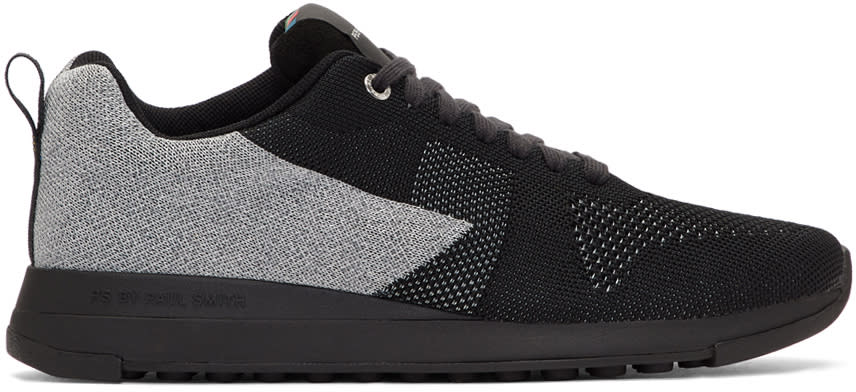 Ps By Paul Smith Black Reflective Rappid Sneakers