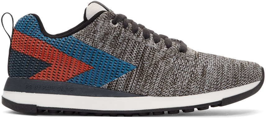 Ps By Paul Smith Grey Chevron Rappid Sneakers