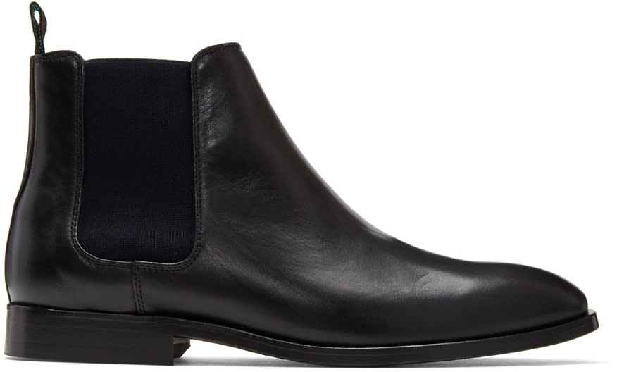Image of Ps By Paul Smith Black Gerald Chelsea Boots
