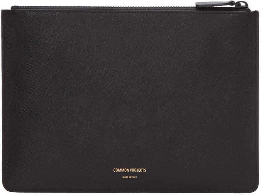 Woman By Common Projects Black Small Folio Pouch