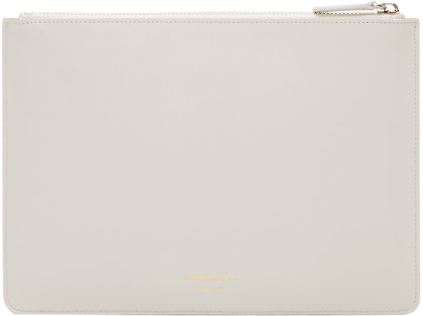 Woman By Common Projects Off-white Small Folio Pouch