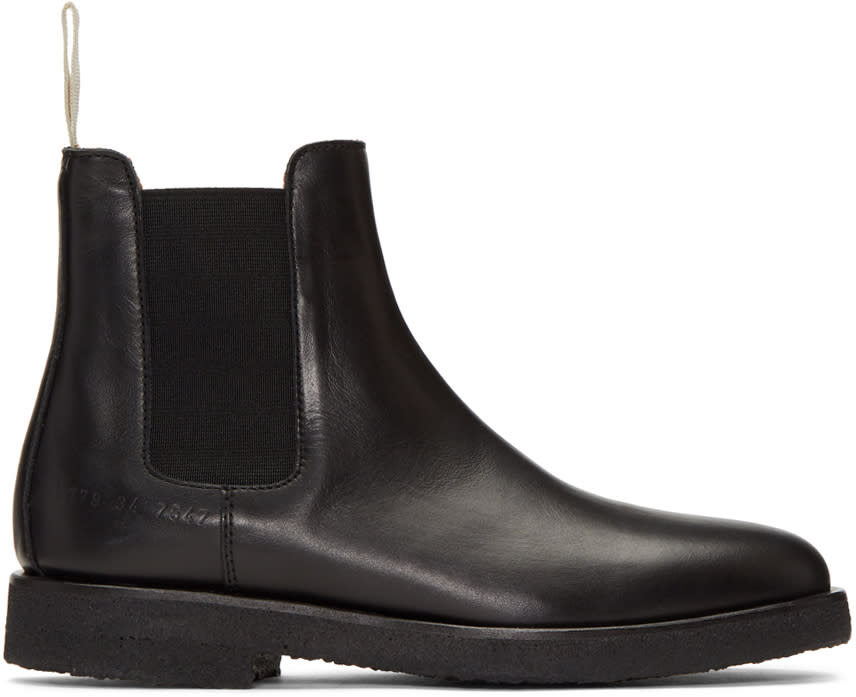 Image of Woman By Common Projects Black Chelsea Boots