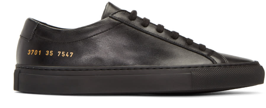 Image of Woman By Common Projects Black Original Achilles Low Sneakers
