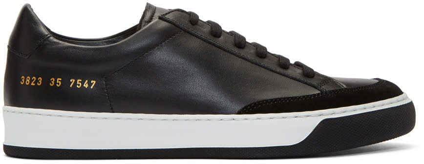 Image of Woman By Common Projects Black Tennis Pro Sneakers