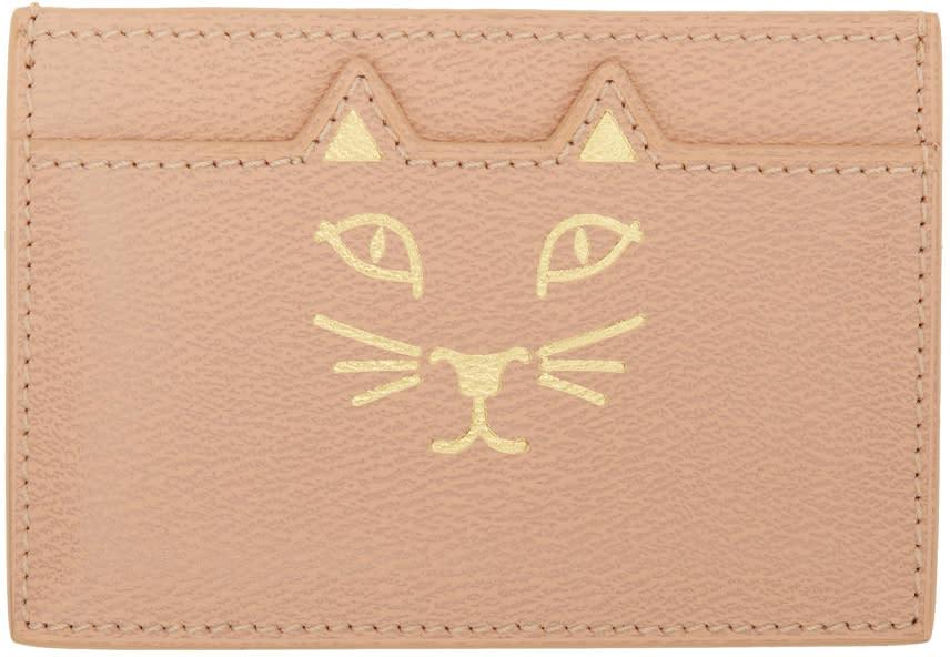 Charlotte Olympia Porte-cartes Rose Feline