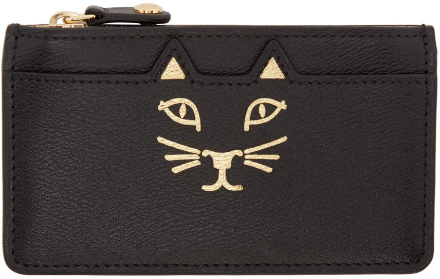Image of Charlotte Olympia Black Feline Coin Purse