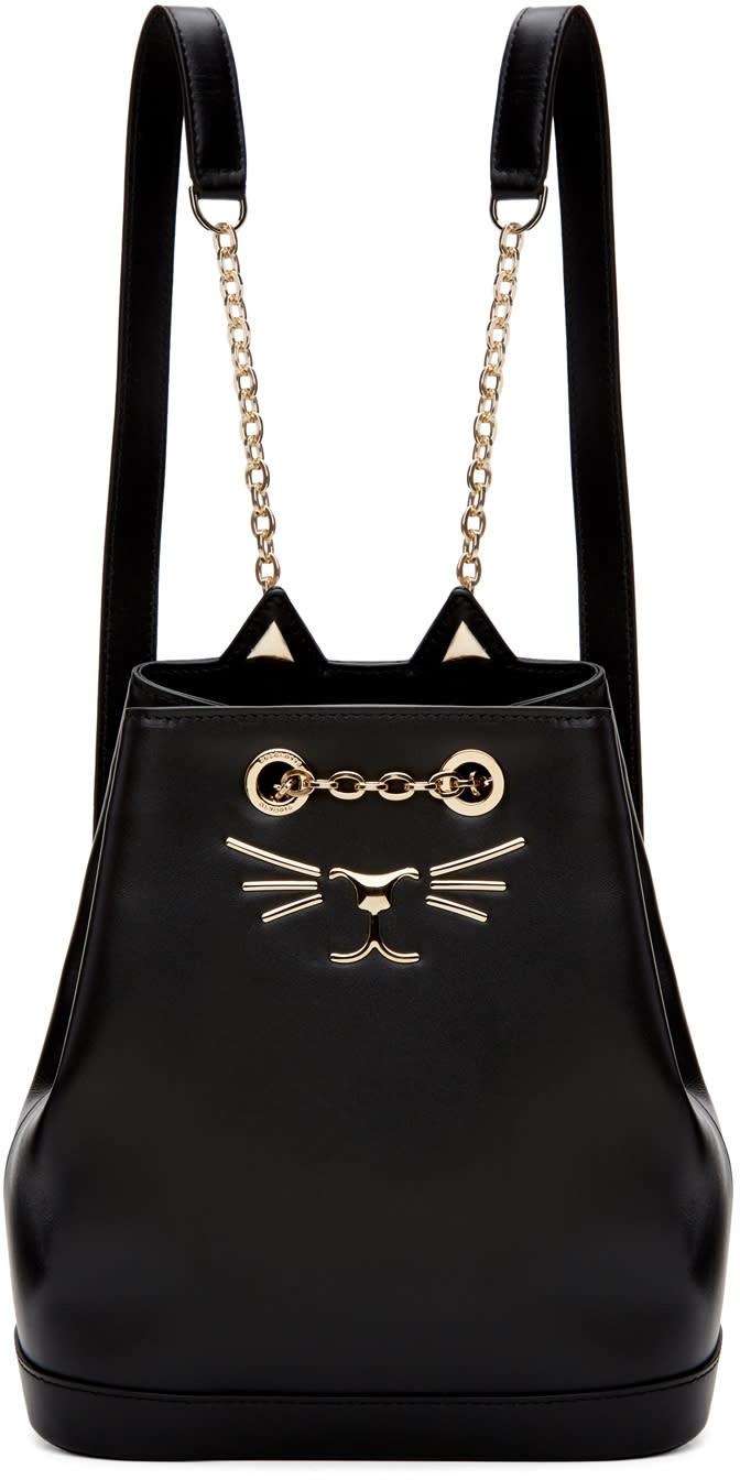Charlotte Olympia Sac à Dos Noir Petite Feline