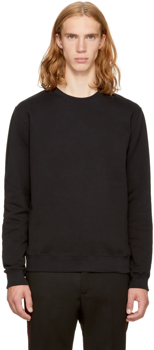 Image of Msgm Black Back Logo Sweatshirt
