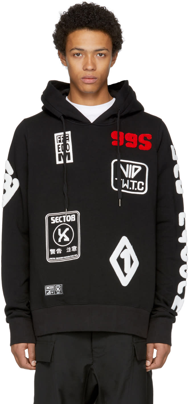 Image of Ktz Black Patches Hoodie