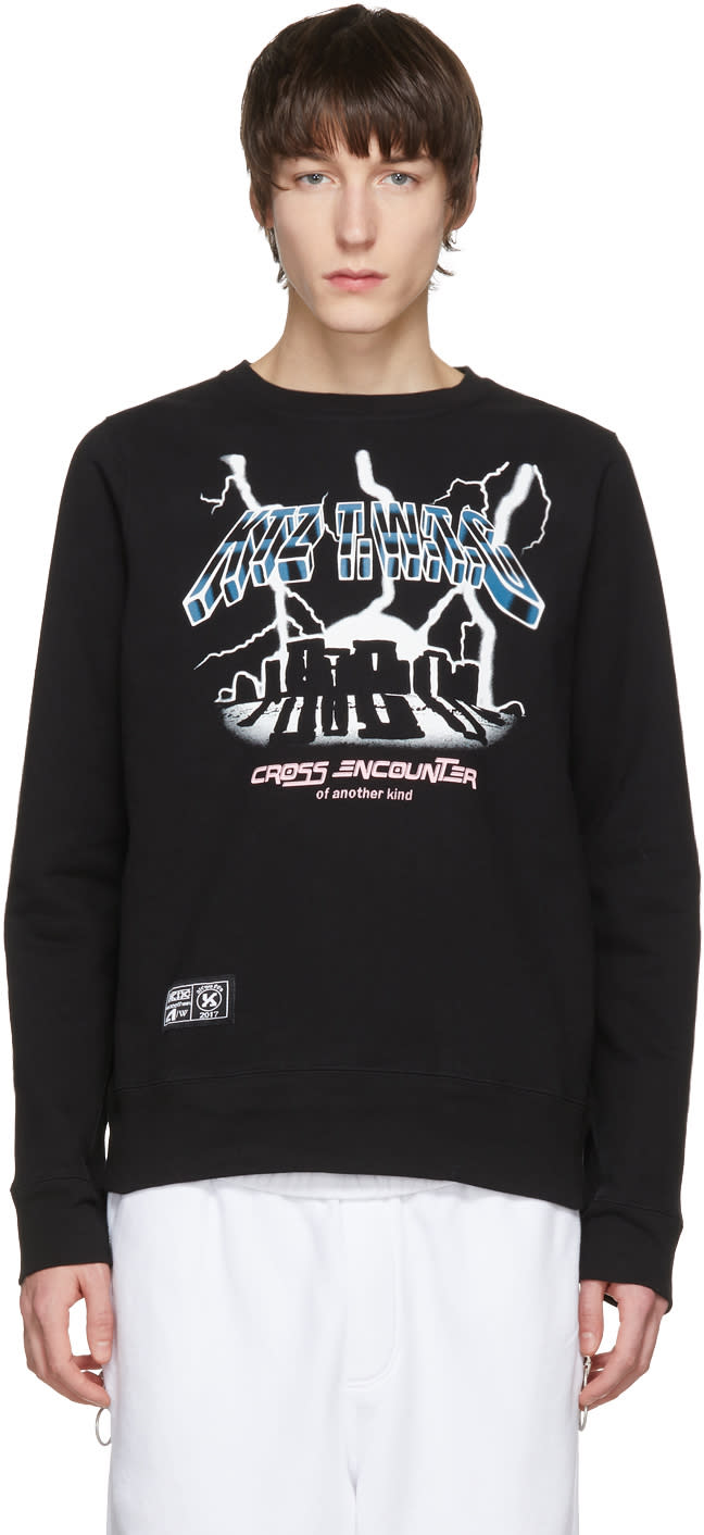 Image of Ktz Black cross Encounter Sweatshirt