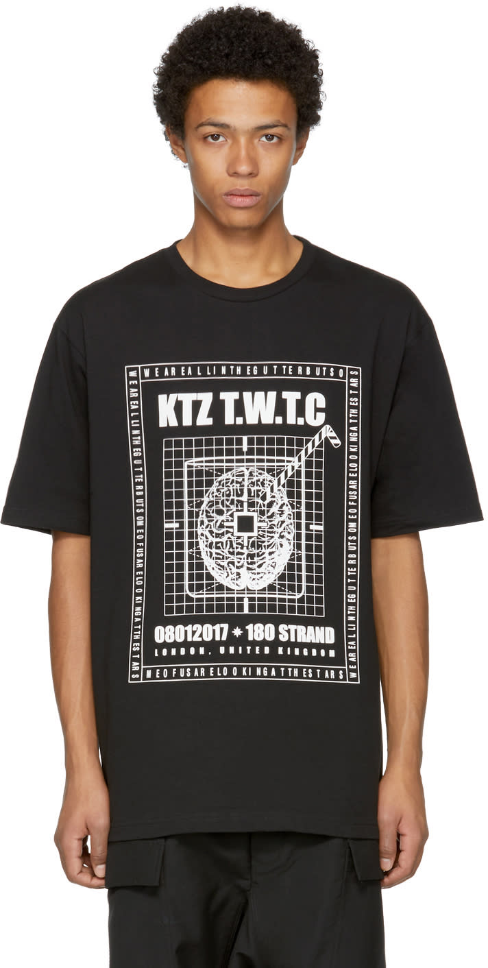 Image of Ktz Black Brainstorm T-shirt