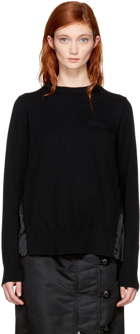 Image of Sacai Black Classic Pleated Sweater