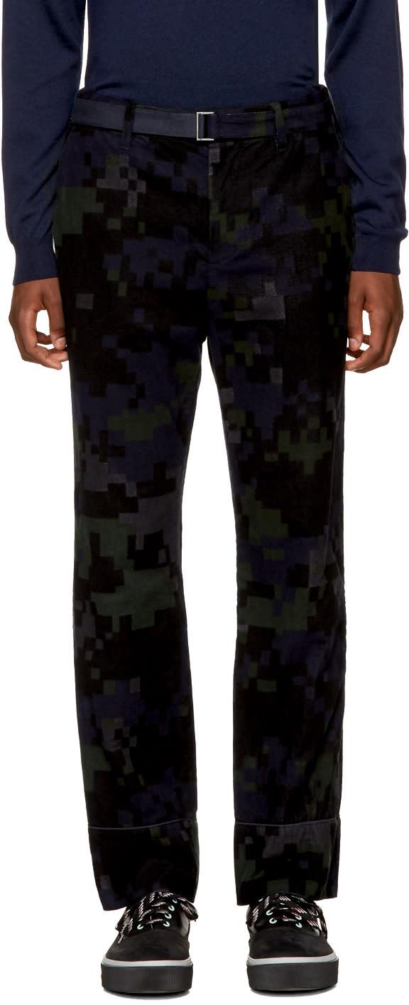 Sacai Pantalon à Motif Camouflage Noir