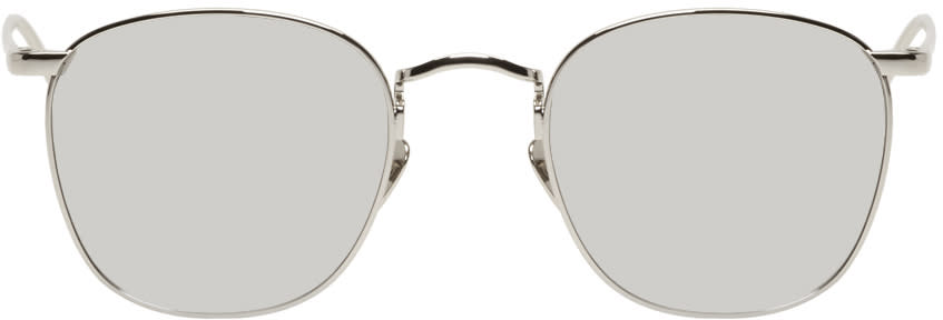Image of Linda Farrow Luxe White Gold Square 479 Sunglasses