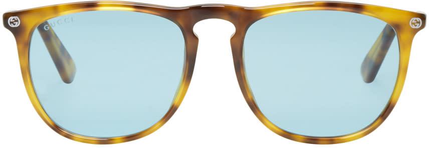 Gucci Tortoiseshell Pantos Sunglasses